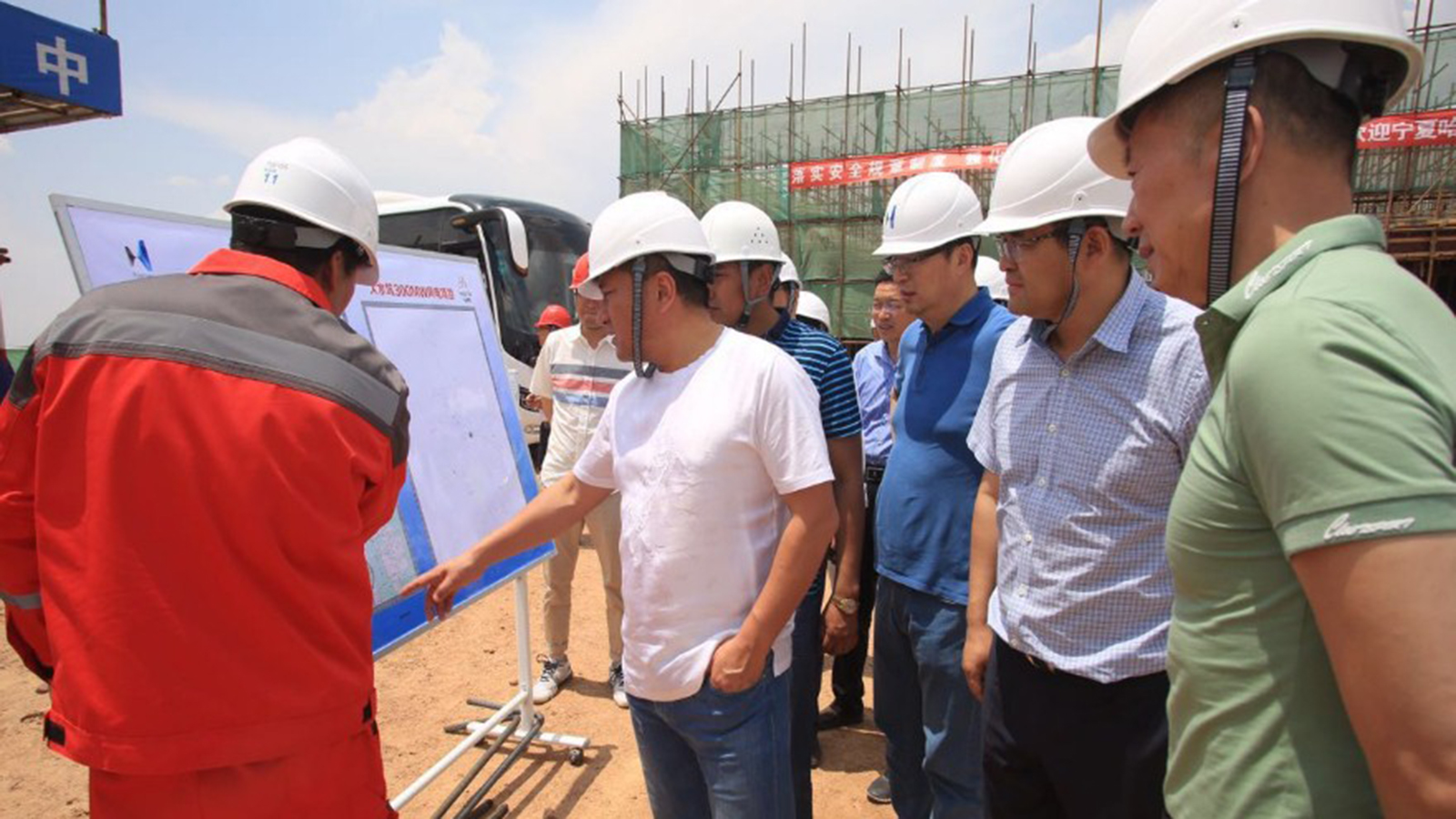 Hanas Chairman Ma Fuqiang and His Entourage Inspect Dashuikeng and Shijiawan Wind Power Projects